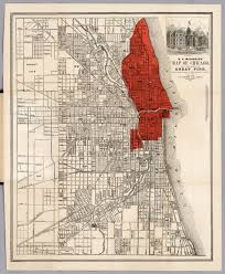 Map Chicago by Map Of Chicago David Rumsey Historical Map Collection