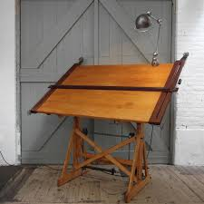 vintage wood drafting table furniture wood drafting table for vintage by studio designs with