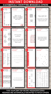 spy party games 8 printable secret codes u0026 ciphers