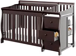 Sorelle Tuscany 4 In 1 Convertible Crib And Changer Combo Top 5 Convertible Cribs With Attached Changing Table Of 2018