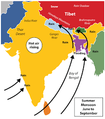 Asia Geography Map by South Asia