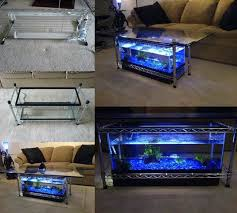 Aquarium Coffee Table How To Diy Aquarium Coffee Table Beesdiy