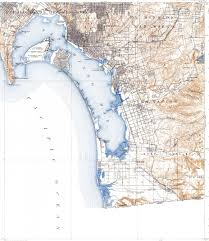 San Diego Bay Map by Download Topographic Map In Area Of Tijuana Chula Vista National