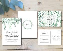 wedding invitations greenery printable wedding invitation suite leafy greenery garden