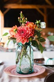 jar floral centerpieces 37 beautiful jar wedding centerpieces weddingomania