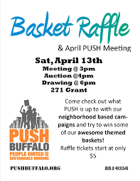 raffle baskets april 2013 monthly meeting basket raffle push buffalo