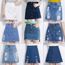 denim skirt 2018 wholesale midi denim skirt of design summer split high waist