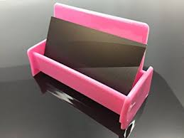 Business Card Holder Amazon Amazon Com Pink Color Business Card Holder Display Stand