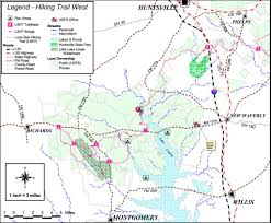 Texas State Park Map by Lone Star Hiking Trail Maplets