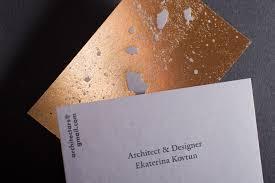 Best Minimal Business Cards Golden Concrete Architect Business Card Mindsparkle Mag