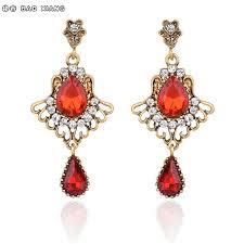 dangler earrings european retro look glass jewelry dangler earrings