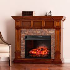tennyson glazed pine electric fireplace with bookcases hayneedle
