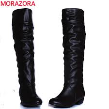 womens boots large sizes large size 2016 arrive winter knee high boots black