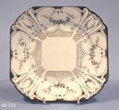 Vintage China Patterns by Shelley Black And White Art Deco Tea Plate U2013 Sold Collectable China