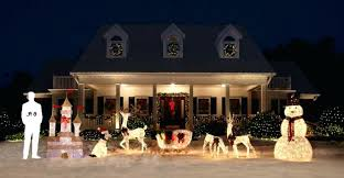lawn reindeer with lights home depot outside christmas decorations 9 ft inflatable lighted