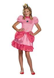 Mario Halloween Costumes Girls Princess Peach Tween Costume