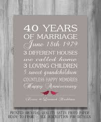 40 year wedding anniversary gift best 25 40th anniversary gifts ideas on 40th