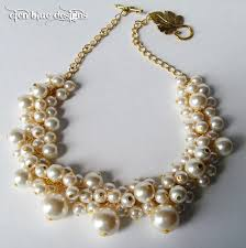chunky necklace pearl images Pearl cluster necklace ivory chunky necklace bauble chunky peach jpg