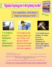 Seeking Text Negotiator Negotiation Psychology How To Win By Minding Your Mind