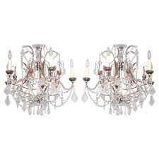Italian Chandeliers Pair Of Small Late 19th Century Italian Chandeliers At 1stdibs