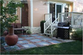 Backyard Concrete Patio by Backyards Outstanding Exciting Patios And Decks For Small