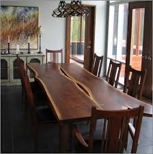 Dining Tables Canada Canadian Wood Craftsman Live Edge Furniture Made With Genuine