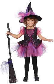 witch costumes for halloween toddler and girls pink darling little witch costume walmart com
