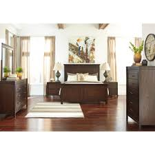 Bedroom Furniture New Jersey Ashley Furniture Timbol King Panel Bed In Warm Brown Local