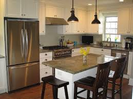 kitchens with small islands small kitchen island with seating genwitch
