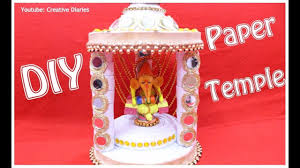 decorate mandir at home how to make paper temple at home i diy temple i best out of waste