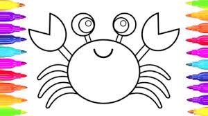 sea creatures coloring page how to draw crab and coloring for kids sea animals coloring