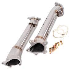 nissan 350z japspeed exhaust japspeed cast stainless steel decat de cat exhaust downpipe for