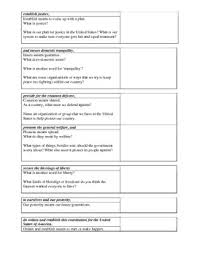 constitution preamble worksheet dbq students write preamble in