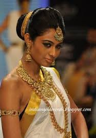 akshara wedding hairstyle akshara menon ruby necklace ruby necklace jewellery designs and