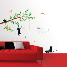 cats on the tree wall stickers wallstickery com cats on the tree wall stickers