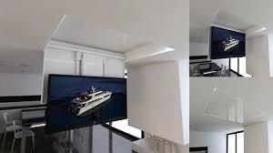 porta tv soffitto tv moving chrt sollevatore tv motorizzato da soffitto per tv a