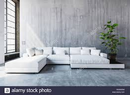 stylish modern white modular sofa day bed with cushions in a