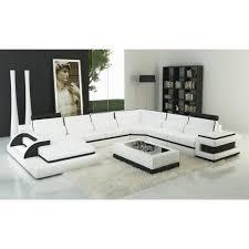 roi mage canapé canapé d angle panoramique design cuir blanc et noir achat vente