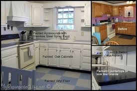 How To Paint Oak Kitchen Cabinets How To Paint Oak Cabinets My Repurposed