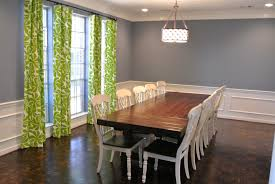 formal dining room window treatments informal dining room curtain ideas bay window treatment blue