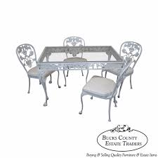 Aluminum Dining Room Chairs Dining - vintage cast aluminum dining table u0026 chairs patio set by molla