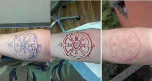 i see your white ink tattoo and raise you scarification album on