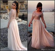 elegant chiffon long evening dresses long sleeve plus size formal