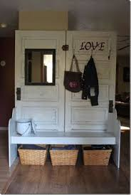 This Old House Entry Bench My Cottage Charm How To Build A Coat Rack Bench From Old Doors