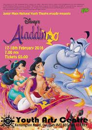 disney u0027s aladdin 17 18th february youth arts