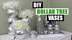 DIY DOLLAR TREE GLAM VASES DIY Floral Home Decor