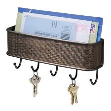 interdesign wall mail letter key holder hook rack hanger organizer