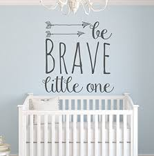 Nursery Decor Wall Stickers Pinkie Penguin Wall Decor Be Brave One Wall Decal Quote