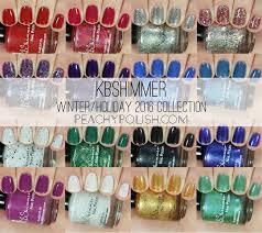 kbshimmer winter 2016 collection swatches review