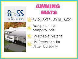 Awning Mats Boss Technology Awning Mats U0026 Sun Blockers Leisure Trailer Sales